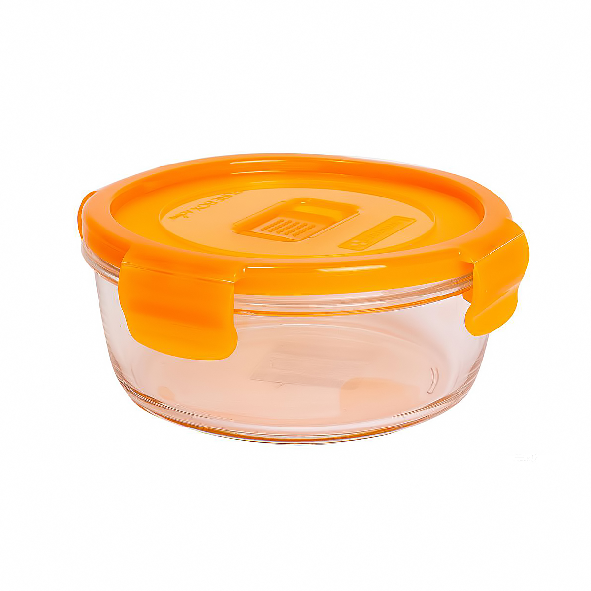 Салатник  PURE BOX ROUND ORANGE 0,42л с клапаном  N0923