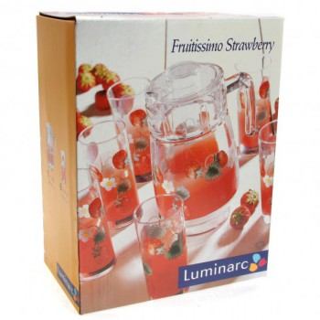 Набор  FRUITISSIMO STRAWBERRY  7пр. 6ст х 27cl + гр х 1,6 с кр.