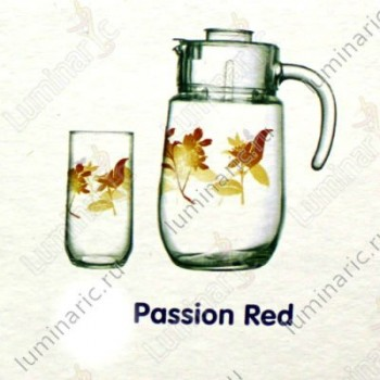 Набор  PASSION RED BANAMAS 7пр. 6ст х 26cl + гр х 1,6 с кр.