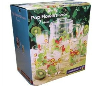 Набор  POP FLOWERS GREEN 7пр. 6ст х 30cl + гр х 1.6 c кр.
